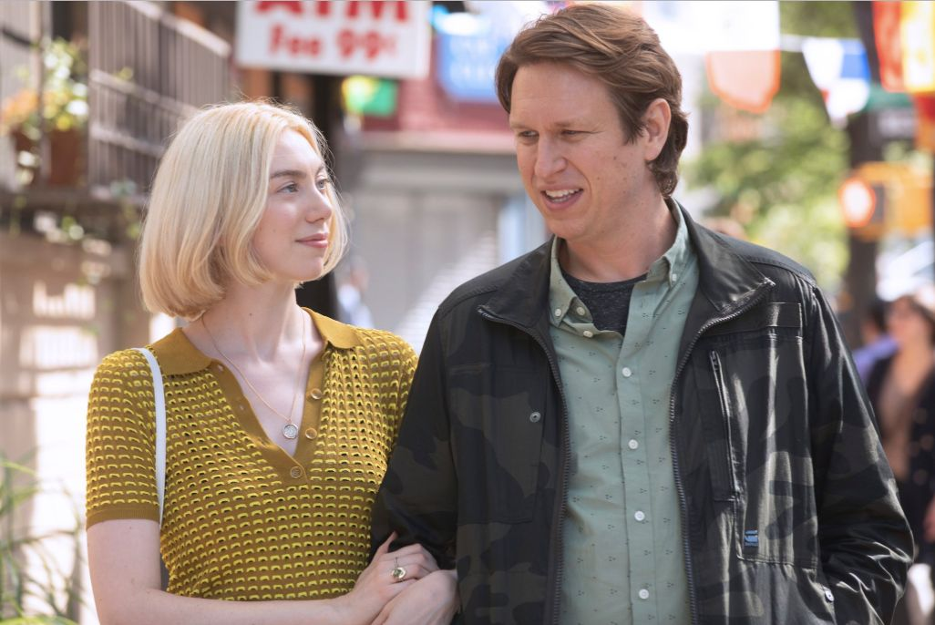 "Madeline Wise and Pete Holmes in ""Crashing"" on HBO."