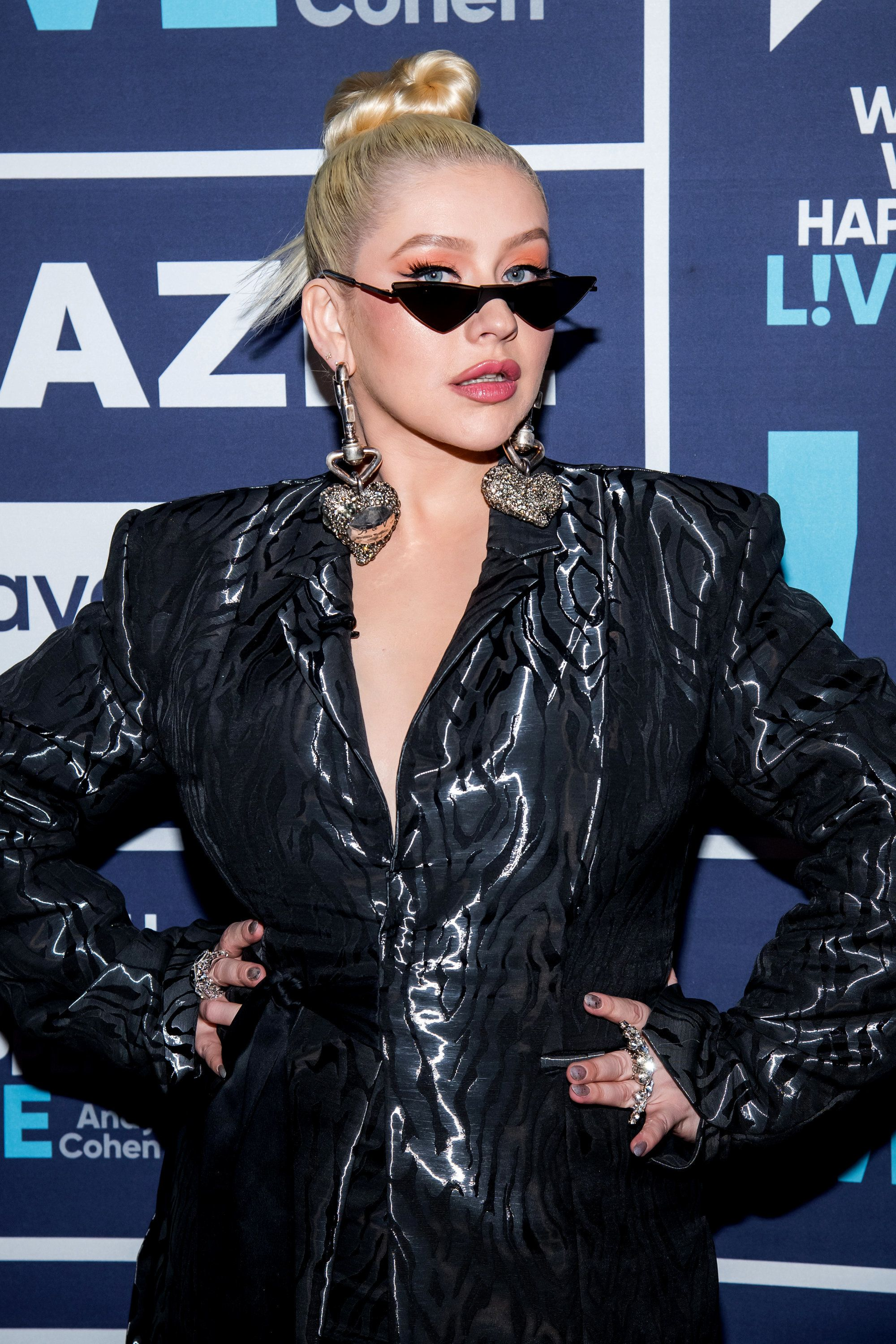 WATCH WHAT HAPPENS LIVE WITH ANDY COHEN -- Pictured: Christina Aguilera -- (Photo by: Charles Sykes/Bravo/NBCU Photo Bank via Getty Images)