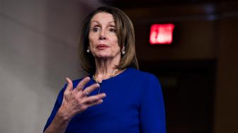 UNITED STATES - MARCH 7: Speaker Nancy Pelosi, D-Calif., conducts her weekly news conference in the Capitol Visitor Center on Thursday, March 7, 2019. (Photo By Tom Williams/CQ Roll Call)