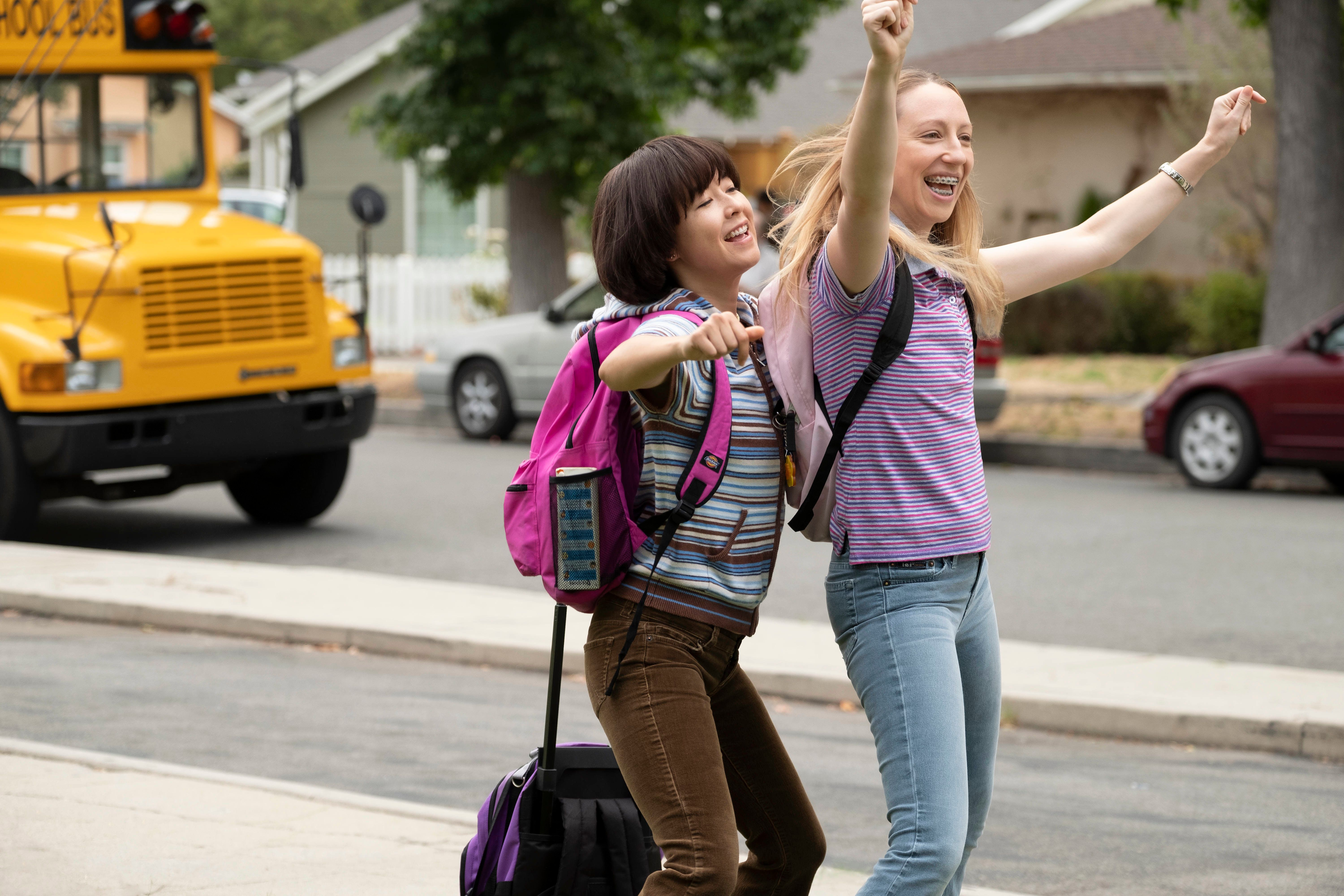 """Maya Erskine (left) and Anna Konkle in """"PEN15."""""""