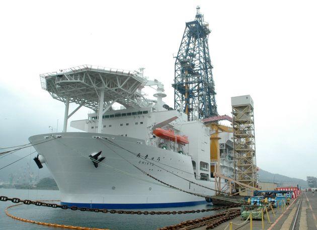 海洋研究開発機構(JAMSTEC)の地球深部探査船「ちきゅう」