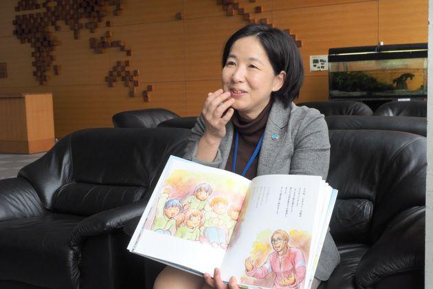 絵本『津波の日の絆』を制作した海洋研究開発機構(JAMSTEC)の小俣珠乃さん