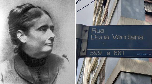Dona Veridiana é homenageada por rua no Centro de São