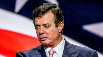 Cleveland Ohio, USA, 21th July, 2016 Paul Manafort, Donald Trump's campaign manager during sound checks at the podium of the Republican National Convention Credit: Mark Reinstein/MediaPunch /IPX