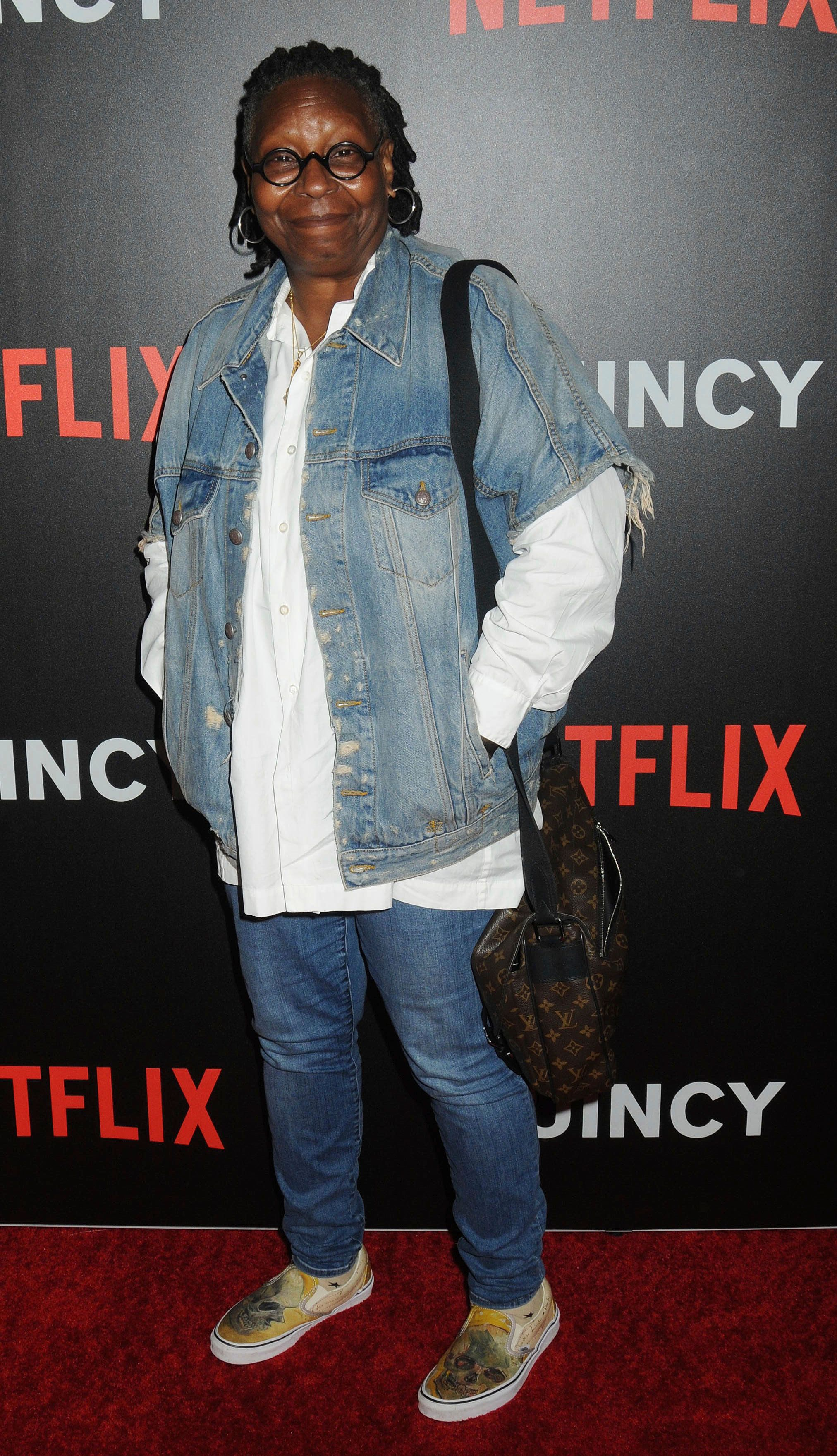"Photo by: Demis Maryannakis/STAR MAX/IPx 2018 9/12/18 Whoopi Goldberg at a screening of Netflix's ""Quincy"" held at The Museum of Modern Art in New York City. (NYC)"