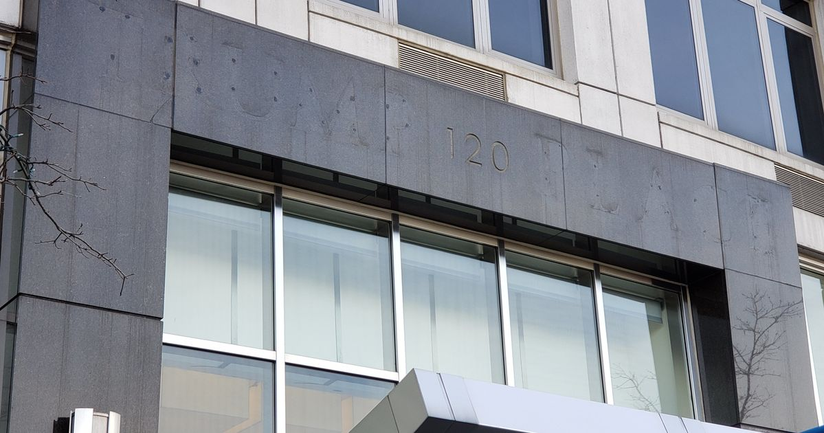 Trump Place Sign Scraped Off Condos As Residents Reject President thumbnail