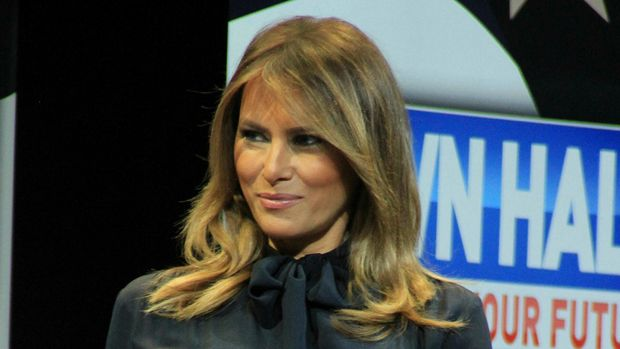 "Photo by: Raoul Gatchalian/STAR MAX/IPx 2019 3/5/19 Melania Trump promotes her ""BE BEST"" intiative at Westgate Casino Hotel in Las Vegas, Nevada."