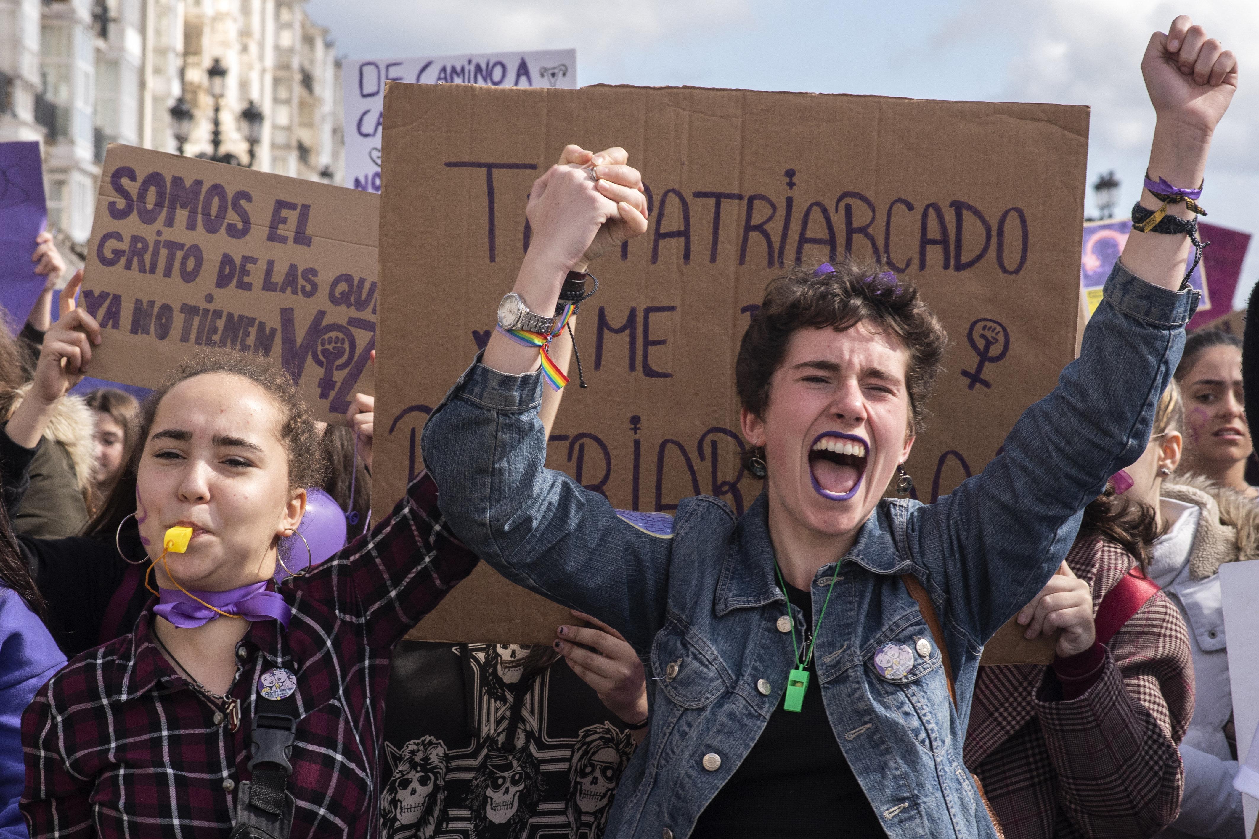 Thousands Strike In Spain On International Women's