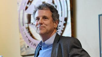 HENDERSON, NEVADA - FEBRUARY 23:  U.S. Sen. Sherrod Brown (D-OH) is introduced at the Lovelady Brewing Company as part of the Nevada Democratic Party's lecture series, 'Local Brews + National Views' on February 23, 2019 in Henderson, Nevada. Brown, a potential Democratic presidential candidate, met with voters as part of his Dignity of Work listening tour of early-voting primary states.  (Photo by Ethan Miller/Getty Images)