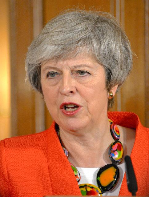 英国のメイ首相=1月、英首相官邸、下司佳代子撮影