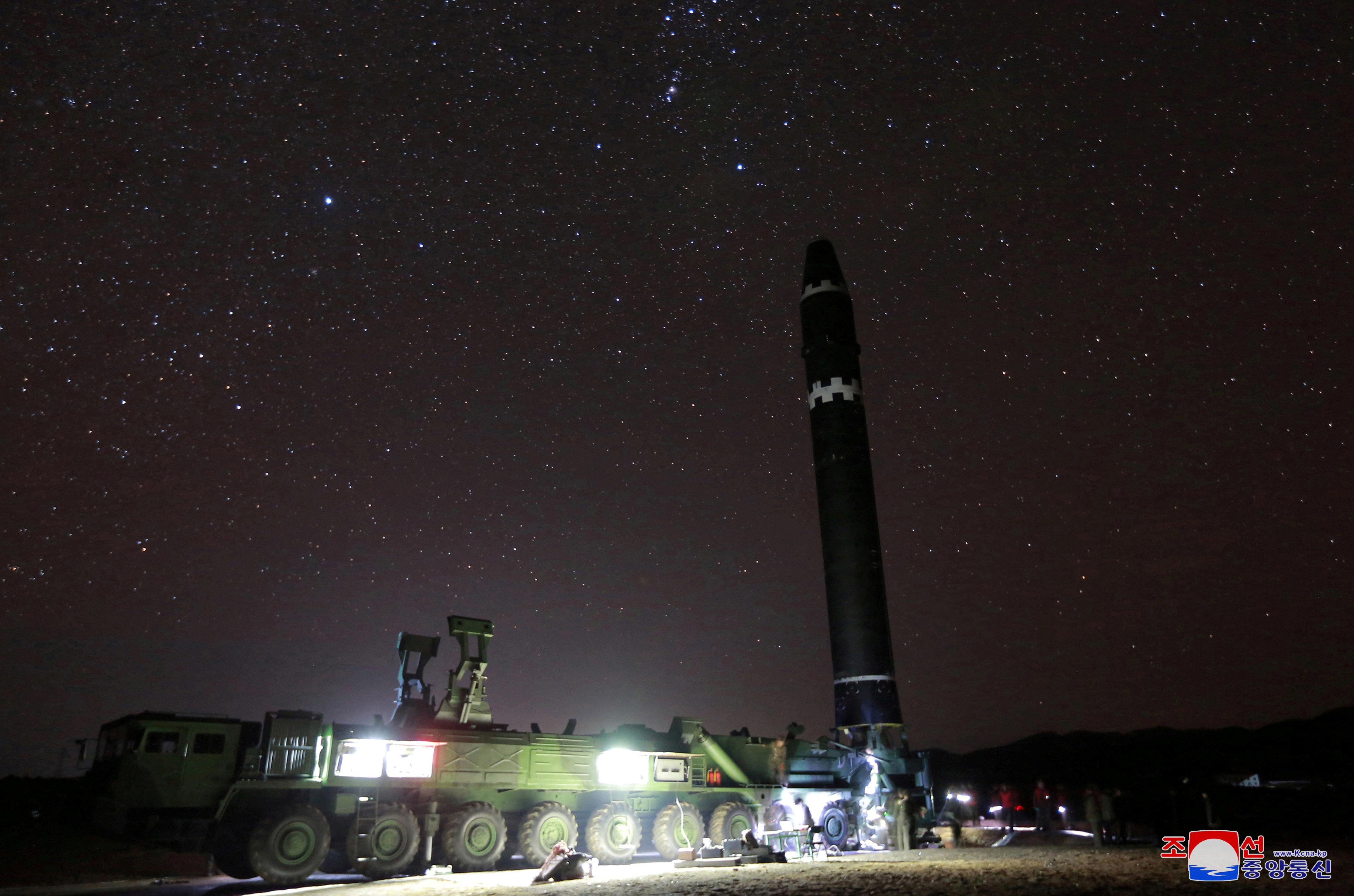 Nordkorea testet eine Rakete