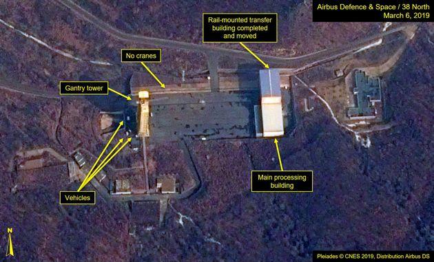 A satellite image ofNorthKorea's Sohae Satellite Launching Station (Tongchang-ri) which Washington-based...