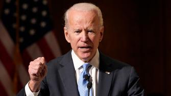 Former Vice President Joe Biden speaks at the Chuck Hagel Forum in Global Leadership, on the campus of the University of Nebraska-Omaha, in Omaha, Neb., Thursday, Feb. 28, 2019. (AP Photo/Nati Harnik)