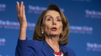 U.S. House Speaker Nancy Pelosi, a Democrat from California, speaks during a luncheon event at the Economic Club of Washington D.C. in Washington, D.C., U.S., on Friday, March 8, 2019. Pelosi said she spoke with President Trump about working together to lower the price of prescription drugs. Photographer: Alex Edelman/Bloomberg via Getty Images