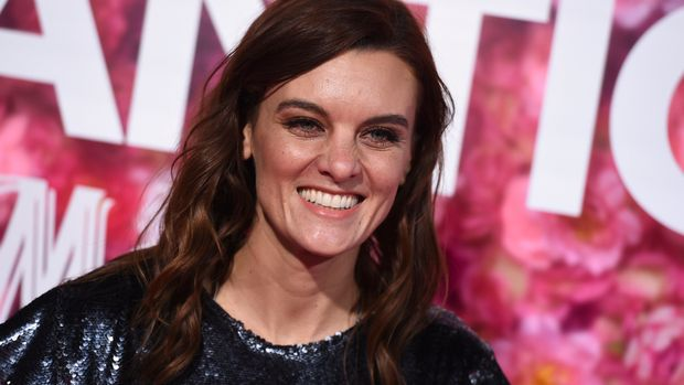 "FILE - In this Monday, Feb. 11, 2019, file photo, Frankie Shaw arrives at a premiere in Los Angeles. In an announcement Friday, March 8, 2019, Showtime said the comedy series ""SMILF"" has been canceled. The announcement comes after a Hollywood Reporter story in December that detailed allegations of abusive on-set behavior and violation of industry rules by the show's creator and star Shaw. Shaw denied the allegations, saying she sought a safe and healthy set environment. (Photo by Jordan Strauss/Invision/AP, File)"