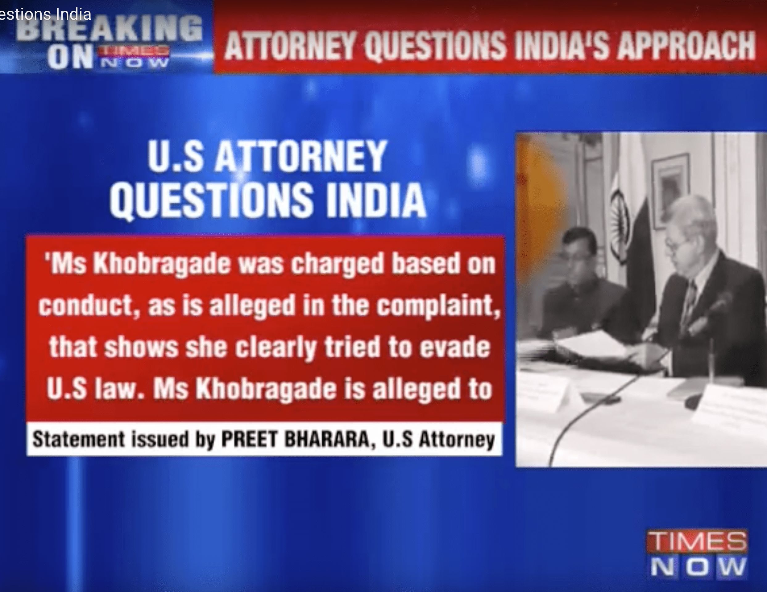 How The Devyani Khobragade Case Led To TV Anchors Calling Preet Bharara A 'Self-Loathing