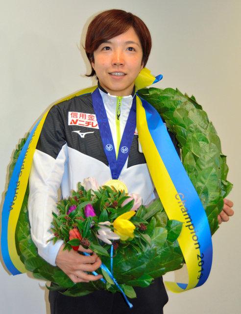小平奈緒さん、36秒47の日本新で優勝 スピードスケートW杯