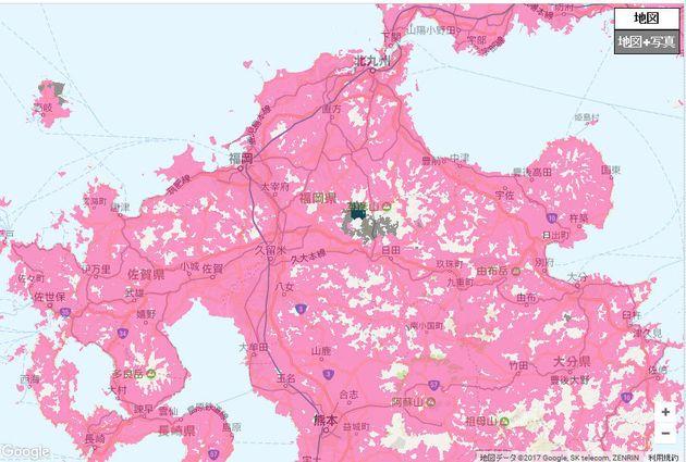 ドコモが災害後に公開している復旧エリアマップ