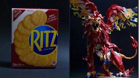 リッツから作ったライオン
