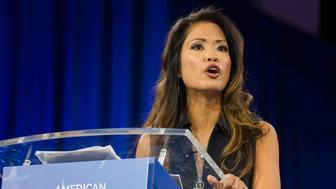 Conservative Speaker Michelle Malkin Speaks calling for a more conservative Republican Party during the annual Conservative Political Action Conference (CPAC) 2016 at National Harbor in Oxon Hill, Maryland, outside Washington, March 4, 2016. (Photo by Zach D Roberts/NurPhoto) (Photo by NurPhoto/NurPhoto via Getty Images)