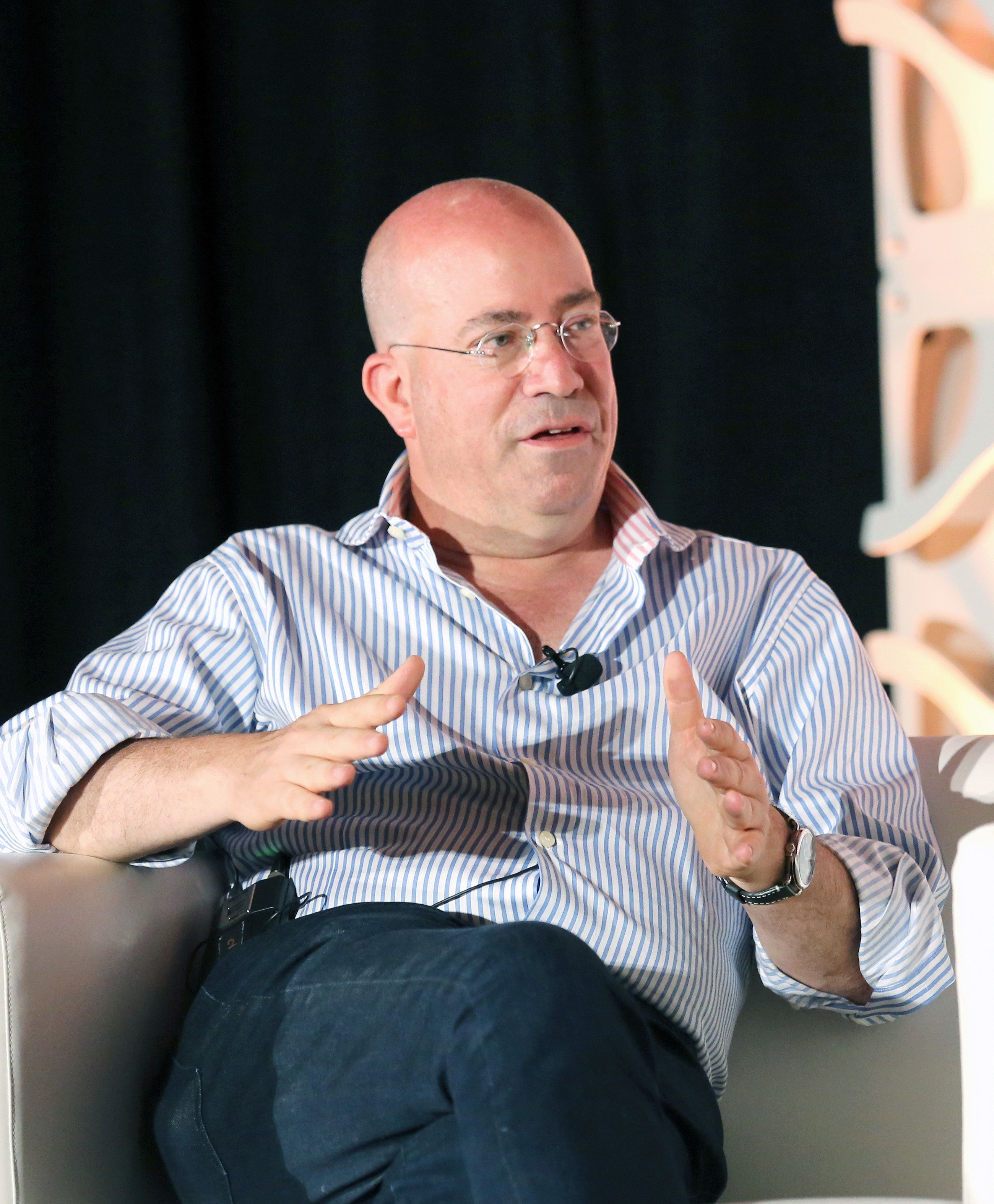 AUSTIN, TX - MARCH 09:  Jeff Zucker speaks onstage at Featured Session Jeff Zucker and Joe Pompeo during the 2019 SXSW Conference and Festivals at Fairmont Austin Hotel on March 9, 2019 in Austin, Texas.  (Photo by Diego Donamaria/Getty Images for SXSW)