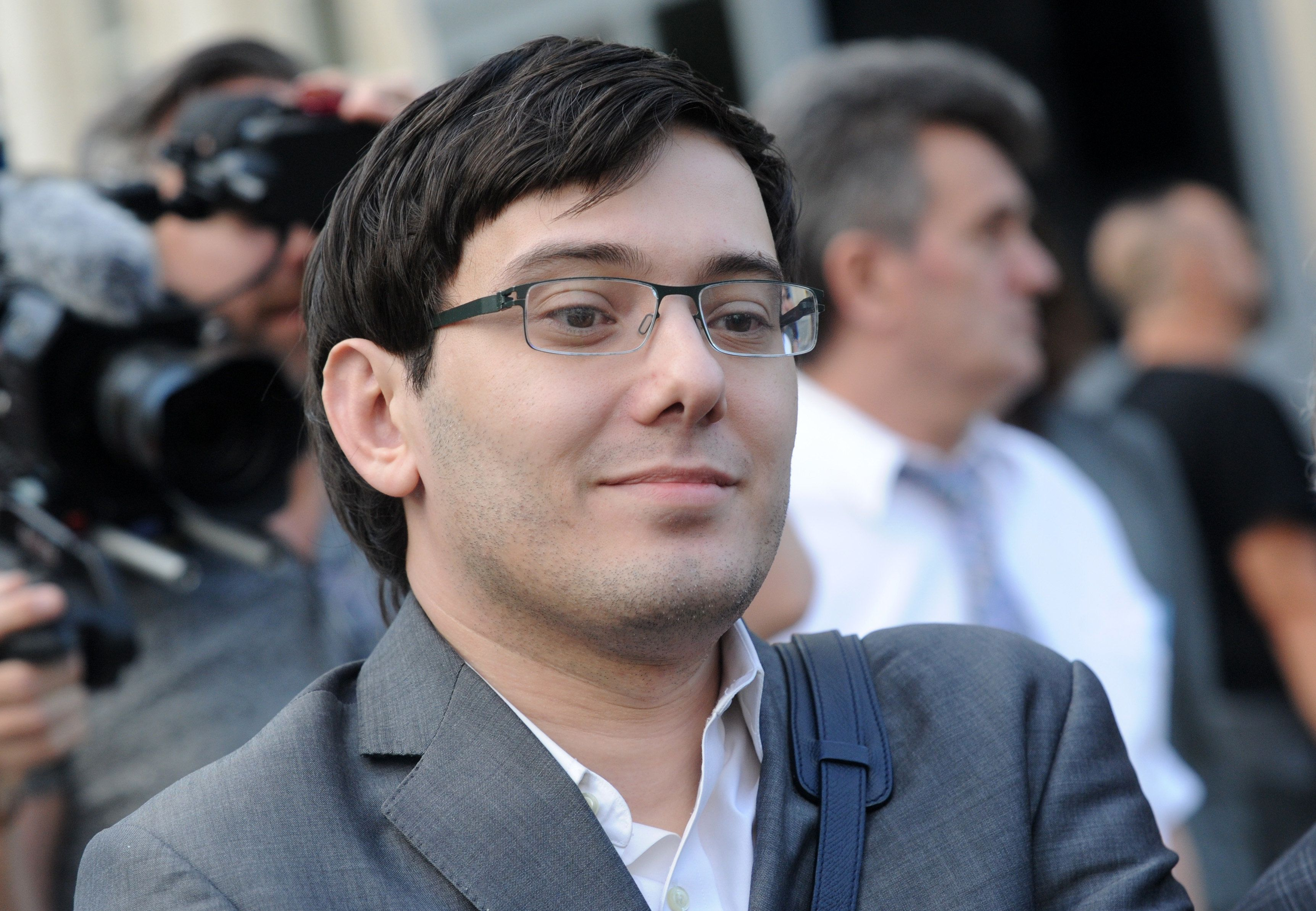 NEW YORK, NY - AUGUST 3: Former Turing Pharmaceuticals CEO Martin Shkreli smiles as he exits the United States Federal courthouse after day four of deliberations in his federal securities fraud trial on August 3, 2017 in New York City. Credit: Dennis Van Tine/MediaPunch/IPX