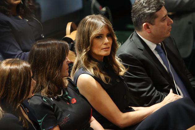 Melania Trump bei einem Treffen der Uno