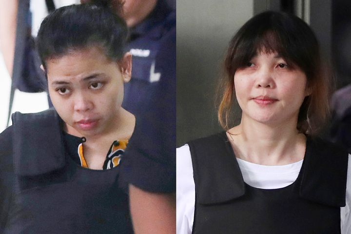 Siti Aisyah and Doan Thi Huong were accused of smearing VX nerve agent on Kim Jong Nam's face in an airport termin