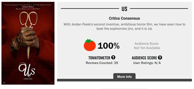 조던 필 신작 '어스'에 대한 북미 평론가들의 단평