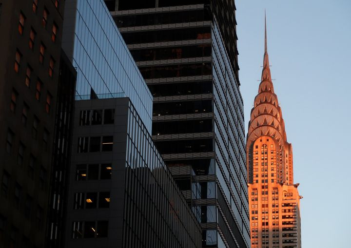 The Chrysler Building in New York.
