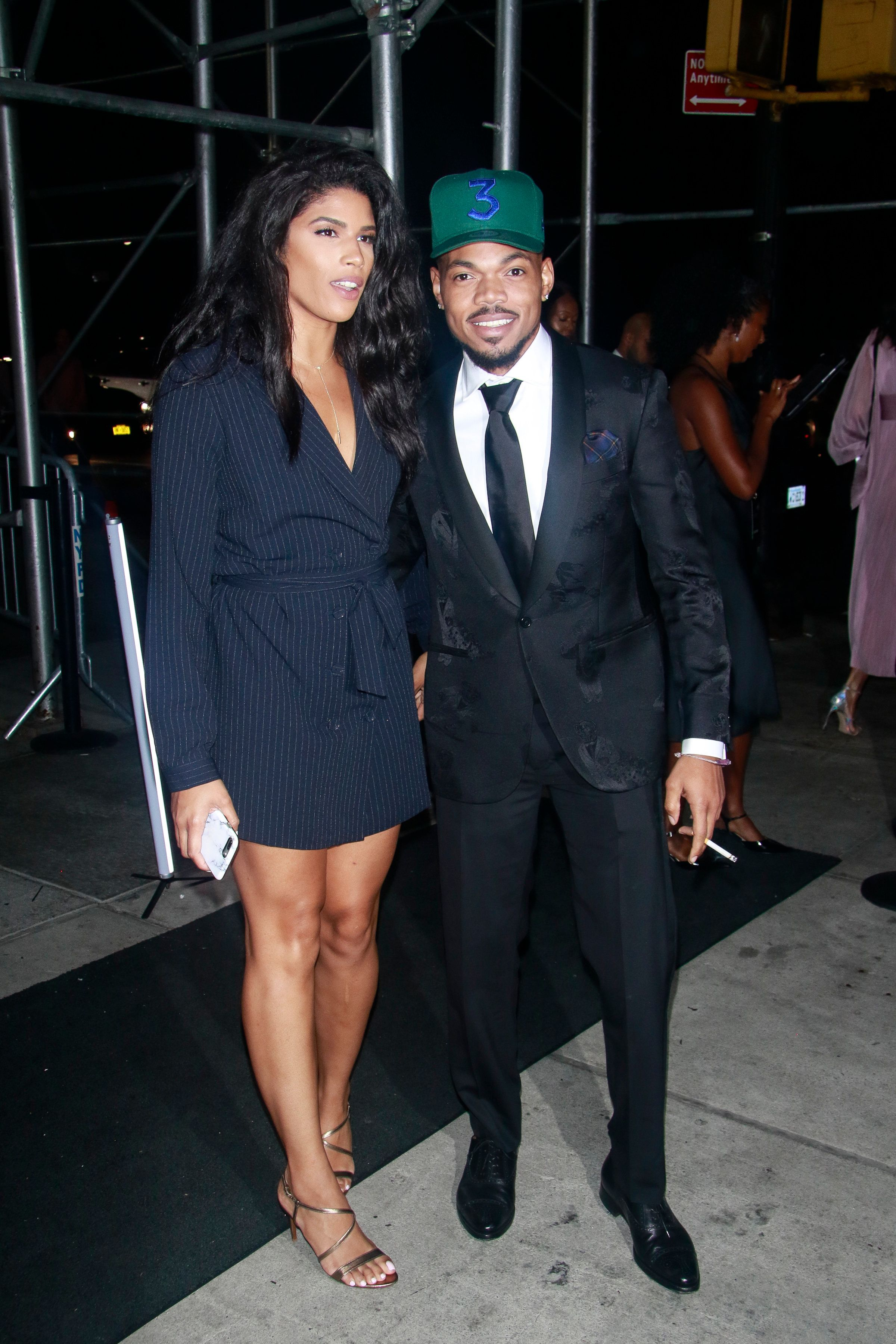 NEW YORK, NY - SEPTEMBER 07: Kirsten Corley and Chance The Rapper the Harper's Bazaar Icons by Carine Roitfeld' party at the Plaza Hotel on September 7, 2018 in New York City. Credit: Diego Corredor/MediaPunch /IPX