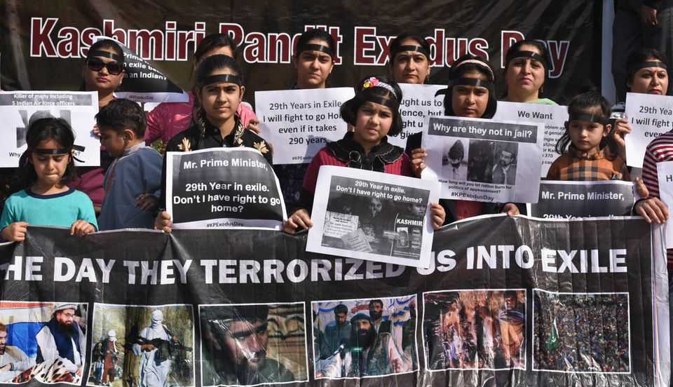 Kashmiri Pandits community marks the 29th anniversary of their forced exile from Kashmir on January 19,...