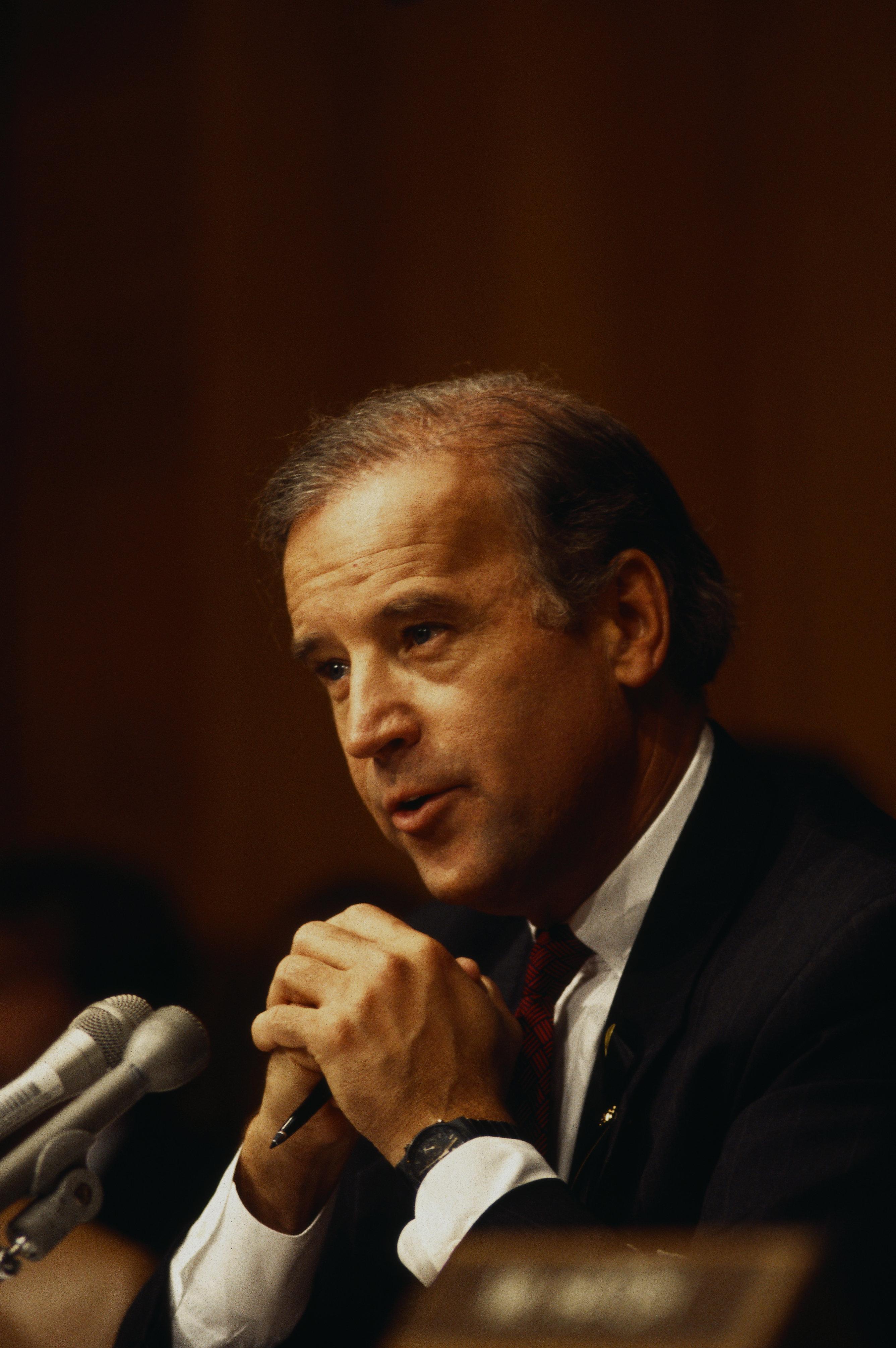 Senator Joe Biden in the 1990s.