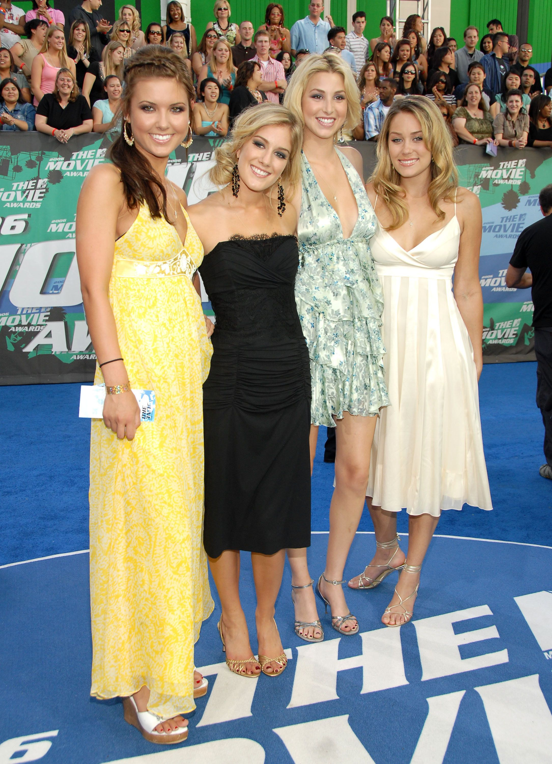 "The original women of ""The Hills,"" Audrina Patridge, Heidi Montag (now Heidi Pratt), Whitney Port, and Lauren Conrad."