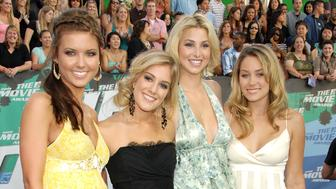 Audrina Patridge, Heidi Montag, Whitney Port and Lauren Conrad of 'The Hills' (Photo by Kevin Mazur Archive 1/WireImage)
