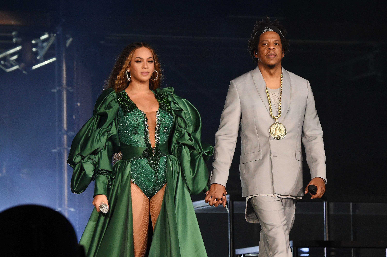 "GLAAD president Sarah Kate Ellis praised Beyoncé and Jay-Z as""global icons and passionate defenders of hum"