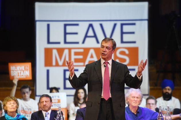 Nigel Farage, the former leader of