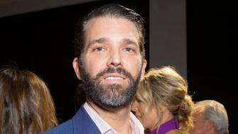 (2/13/2019) Donald Trump Jr. attends runway for Zang Toi Fall/Winter collection during New York Fashion Week at Spring Studios (Photo by Lev Radin / Pacific Press/Sipa USA)