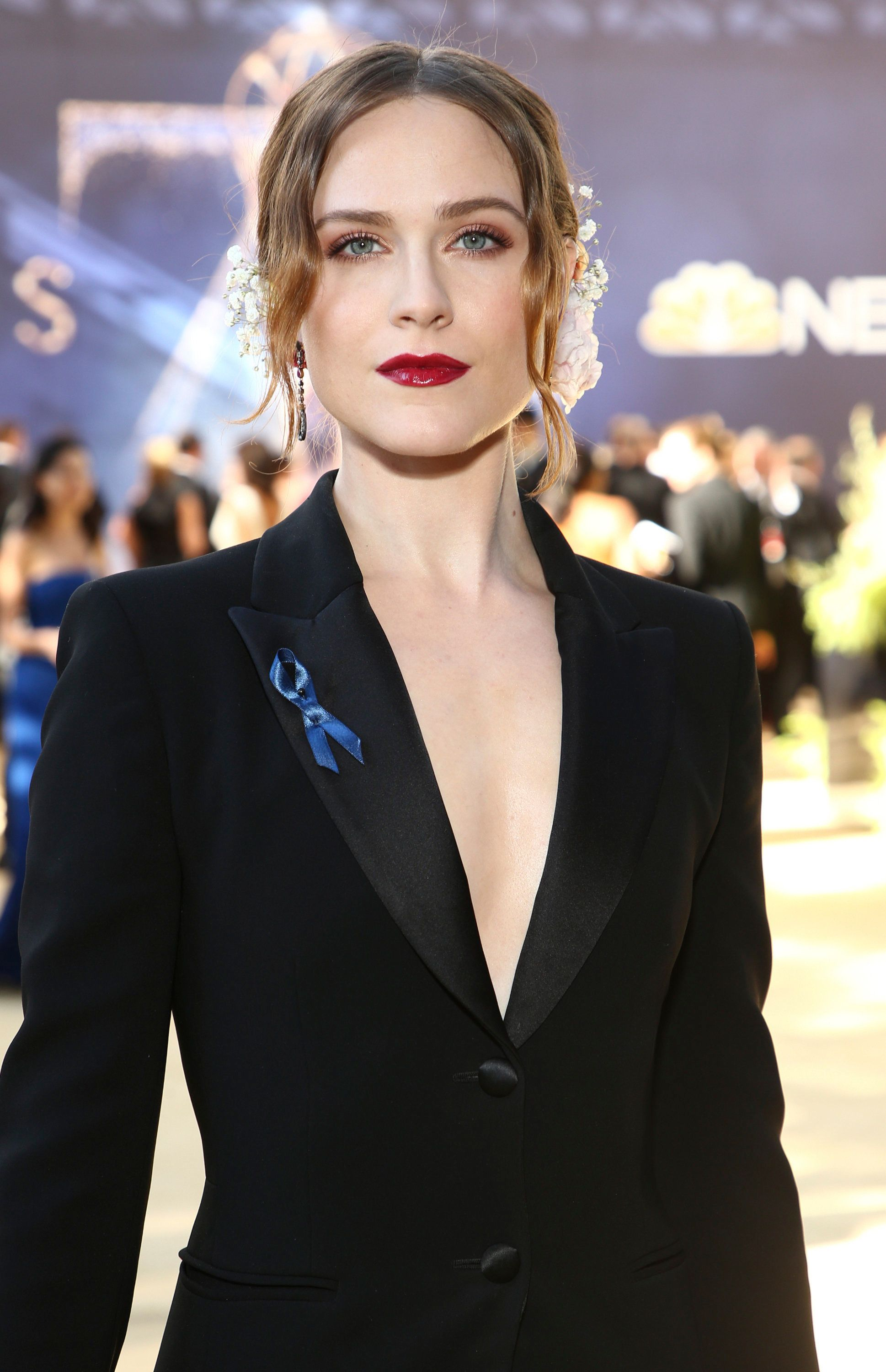 Evan Rachel Wood arrives at the 70th Primetime Emmy Awards on Monday, Sept. 17, 2018, at the Microsoft Theater in Los Angeles. (Photo by John Salangsang/Invision for the Television Academy/AP Images)