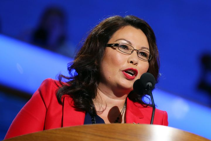 Tammy Duckworth speaks at the Democratic National Convention in 2012.