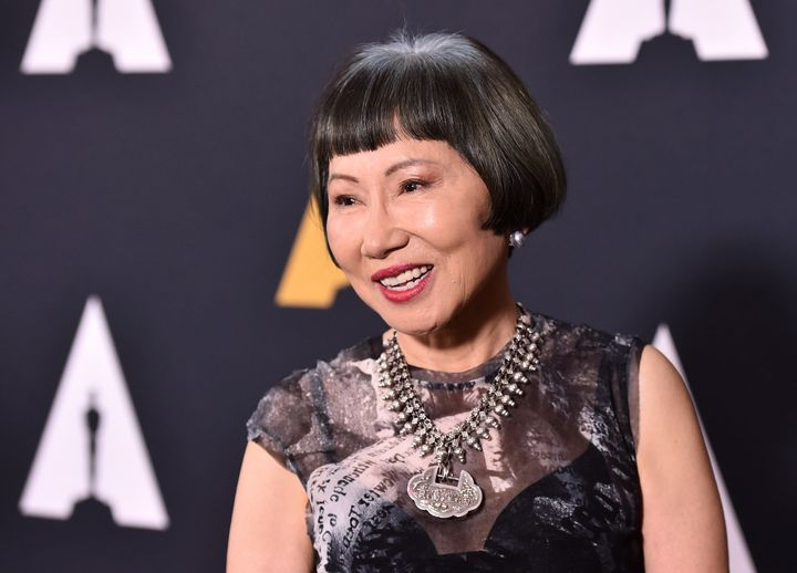 "Amy Tan attends a 25th anniversary screening of ""'The Joy Luck Club"" in 2018."