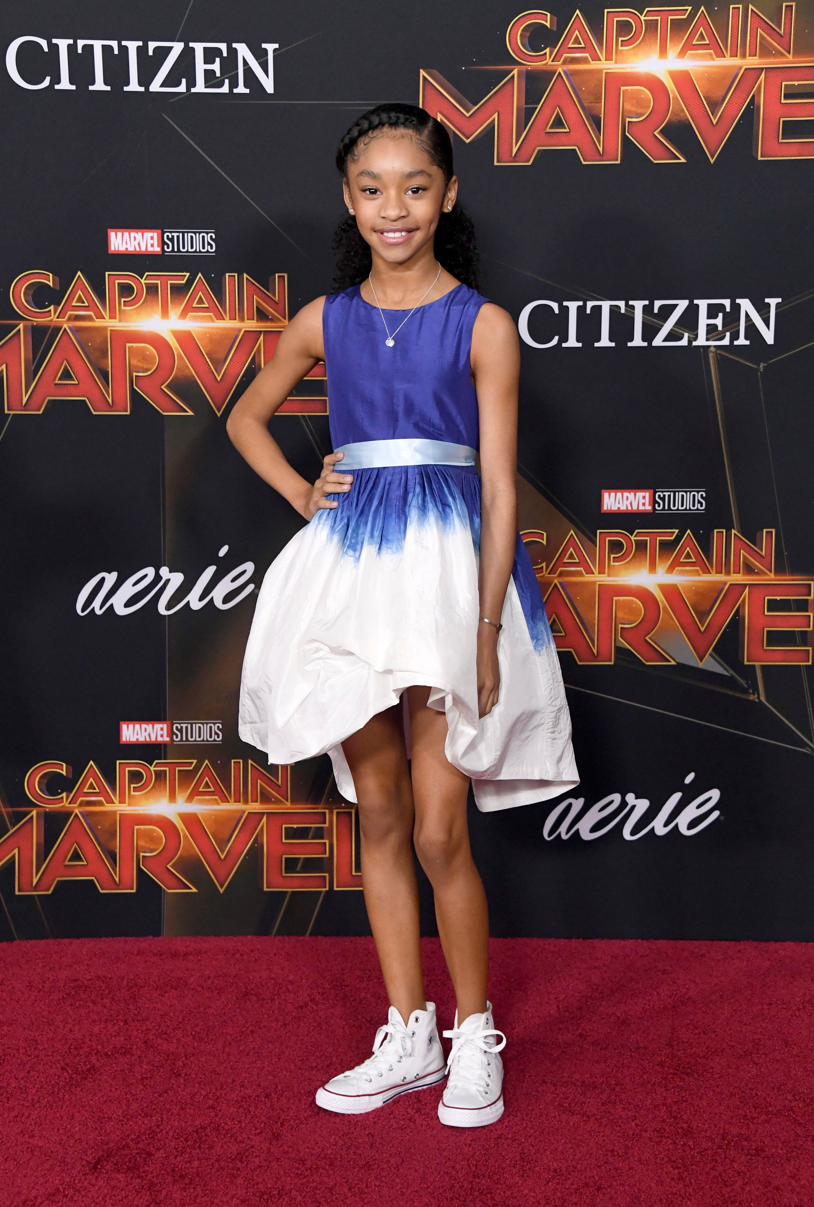 HOLLYWOOD, CALIFORNIA - MARCH 04: Akira Akbar attends the Marvel Studios 'Captain Marvel' premiere on March 04, 2019 in Hollywood, California. (Photo by Frazer Harrison/Getty Images)