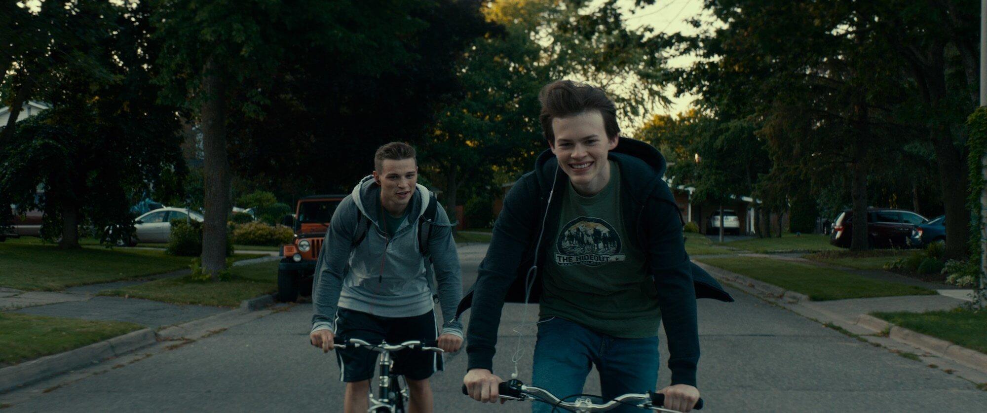 """""""Giant Little Ones"""" follows two teen boys, Ballas (Darren Mann, on left) and Franky (Josh Wiggins), whose friendship is teste"""