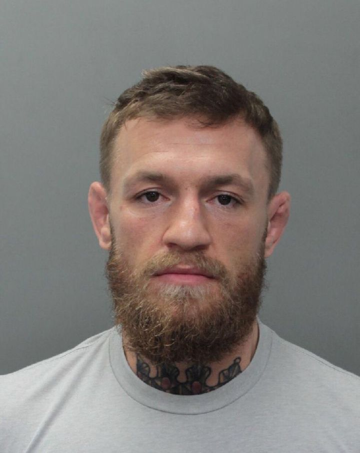 Conor McGregor, 30, was arrested on Monday and charged with robbery and criminal mischief.