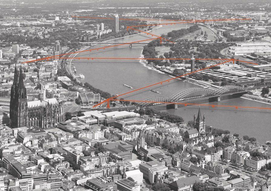 Zickzack: Insgesamt 15-mal sollen die Gondeln des Rheinpendels den Fluss