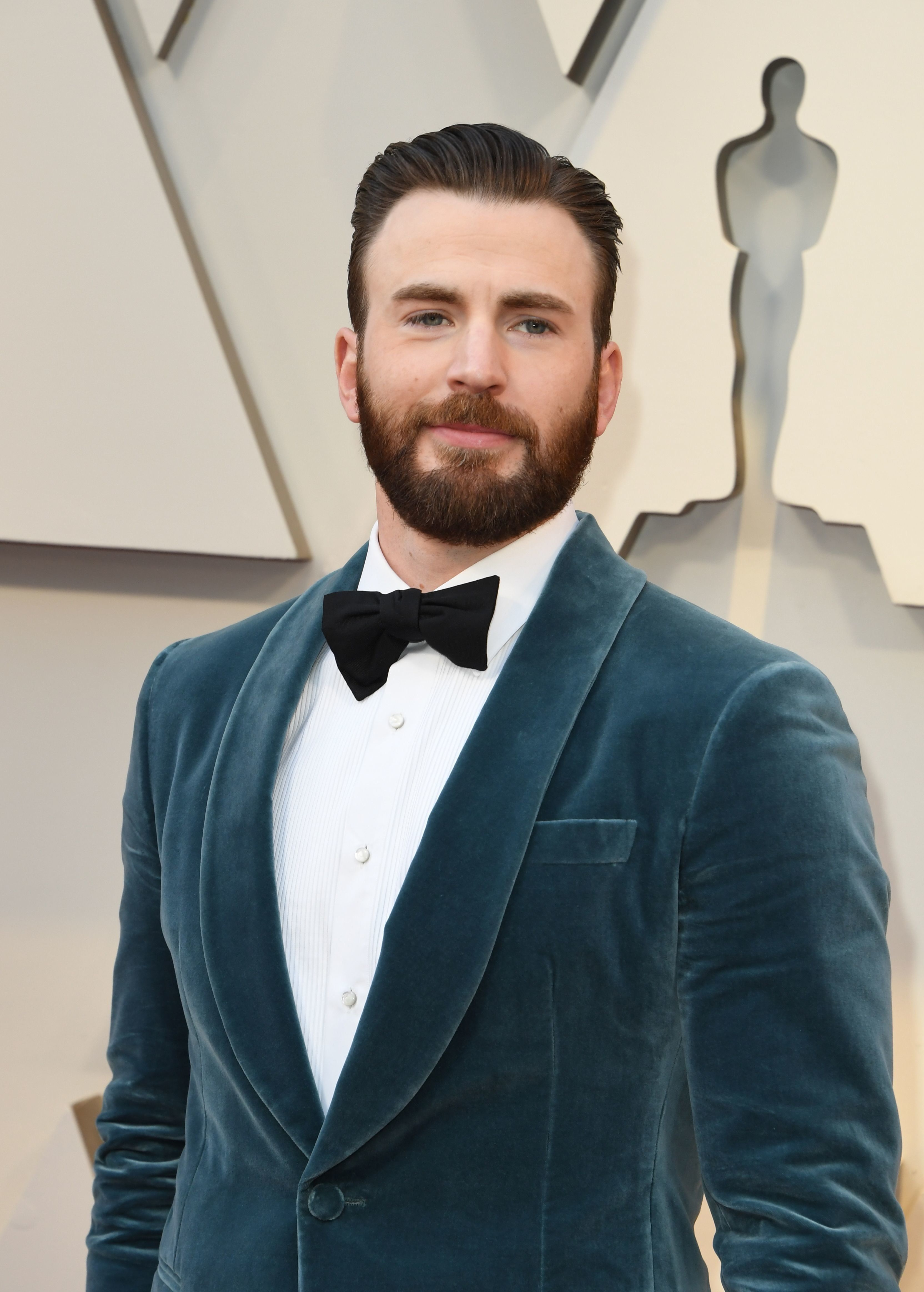 Actor Chris Evans arrives for the 91st Annual Academy Awards at the Dolby Theatre in Hollywood, California on February 24, 2019. (Photo by Mark RALSTON / AFP)        (Photo credit should read MARK RALSTON/AFP/Getty Images)