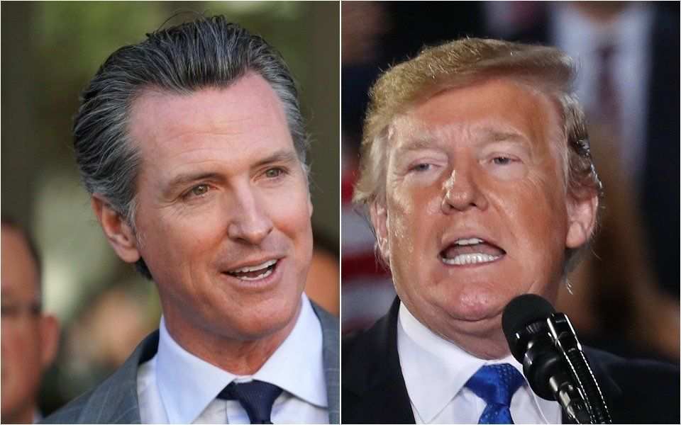 Newsom and Trump