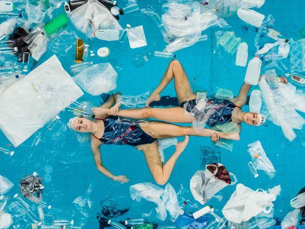 Risultati immagini per british synchronized swimming in plastic