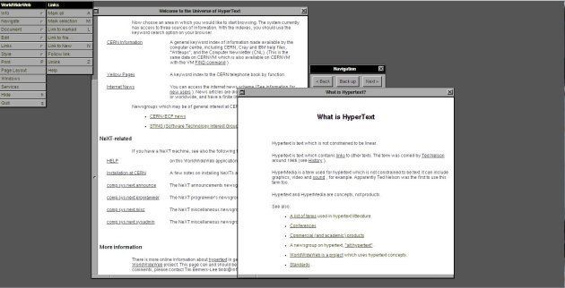 Des développeurs ont recréé le premier navigateur web de l'histoire, le WorldWideWeb....