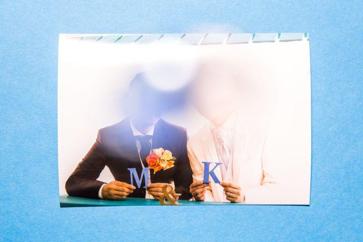 結婚の記念に撮影した、ウェディングフォト